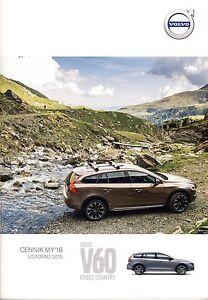 Volvo V60 Cross Country 11 / 2015 catalogue brochure - Varsovie, Polska - Volvo V60 Cross Country 11 / 2015 catalogue brochure - Varsovie, Polska