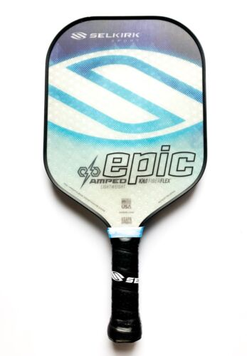 Selkirk Sport Pickleball Paddle Epic AMPED Lightweight Blue New