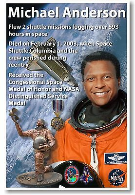 Michael Anderson   New Nasa African American Astronaut Space Exploration Poster