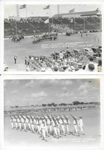 2 BW Photographs from the June 6, 1936 Texas Centennial Exposition at Dallas
