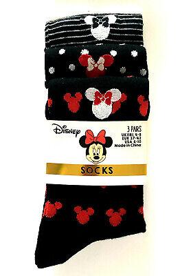 Disney Damen Minnie Maus (3 Paar Disney Minnie Mouse Micky Maus Damen Socken Mickey Mouse 37-42 Primark)