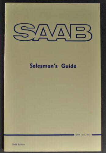 1968 Saab Salesman Training Guide V4 Sedan Wagon Sonett II Excellent Original 68