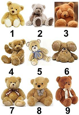 Teddy Bear Large Sticky White Paper Stickers Labels New