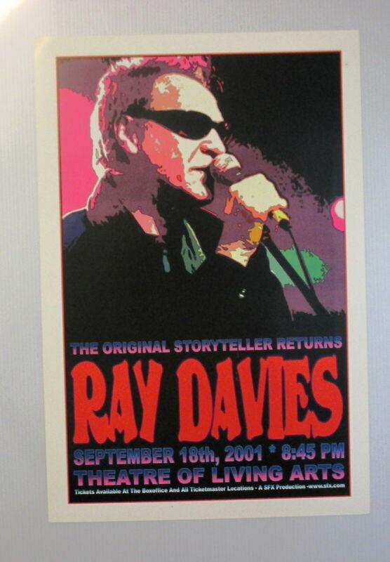 Ray Davies Concert Poster Philadelphia September 18th, 2001 THE KINKS !