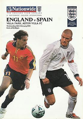 ENGLAND v SPAIN. International Friendly Match 2001