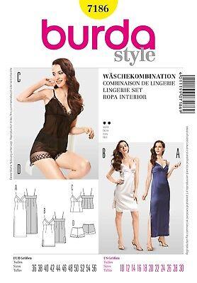 Burda Style Schnittmuster - Lingerie - Unterkleid, Nachthemd, Höschen - Nr. 7186 ()
