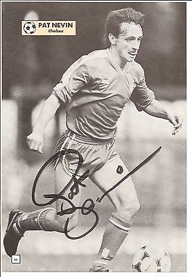 Pat Nevin, Chelsea signed autographed football book picture.