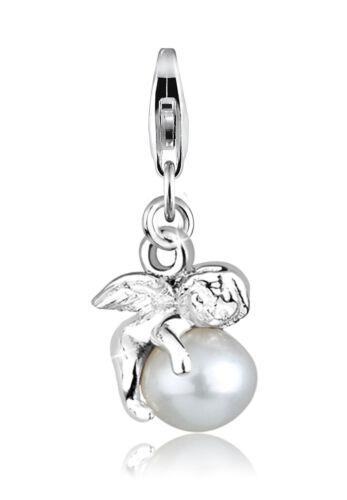 Elli Charm Engel Süßwasserzuchtperle 925 Sterling Silber