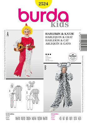 Burda Kids Schnittmuster - Kostüm -Harlekin - Katze - Nr.2524