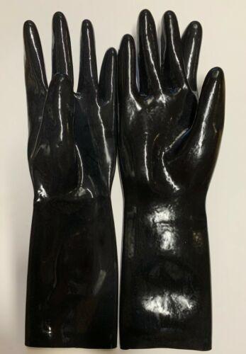 Latex Short Gloves 0.6 mil for Catsuit Dress Rubber Fetish Costume Black