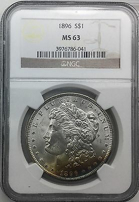 1896 P  MORGAN $ PRETTY COLOURFUL  OBVERSE TONER NGC MS63