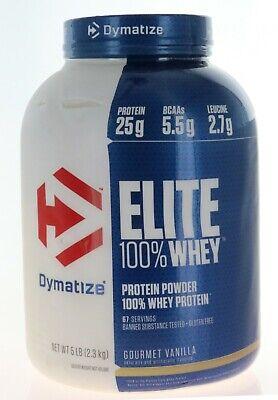 Dymatize Elite 100% Whey Protein / 5 Lbs 67 Servings GOURMET -