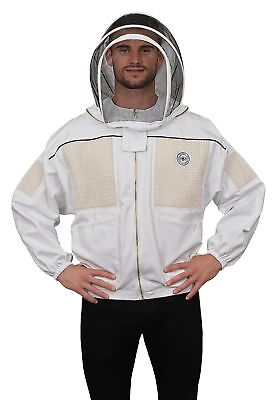 Humble Bee 331-xxl Ventilated Beekeeping Jacket With Fencing Veil Xx Large