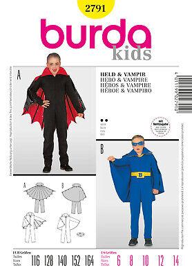 Burda Style Schnittmuster - Kostüm - Bat Boy - Vampir - Fliegen - Nr.2791