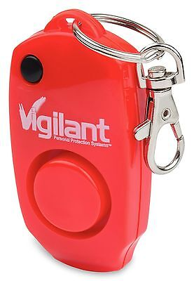 Vigilant 130dB Rape Attach Personal Alarm & Whistle Red w/ Key Ring (PPS-23R)
