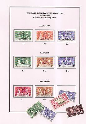 1937 CORONATION King George VI,  COMMONWEALTH OMNIBUS ISSUES-PAGES TO PRINT- PDF