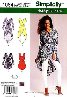Simplicity Sewing Pattern 1064 Women's 6-14 easy-to-sew Tunics Tops Belt