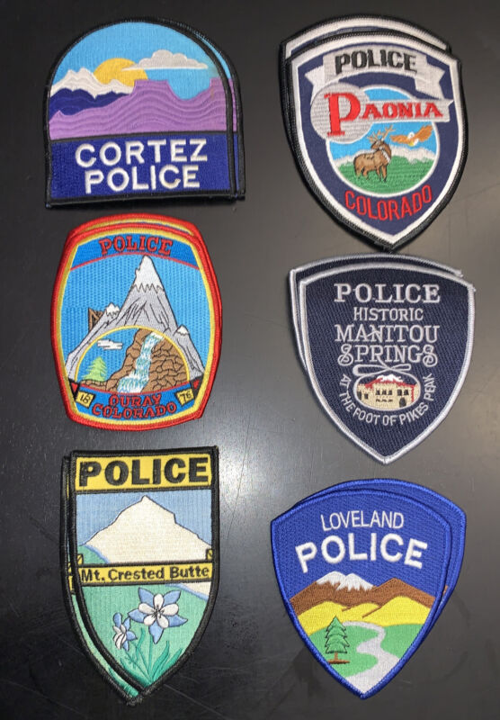 12 Colorado Police Patches Collect And Trade Patch Lot
