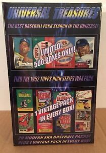 Universal Treasures 1952 Topps pack search! Vintage pack in every box! Mantle?