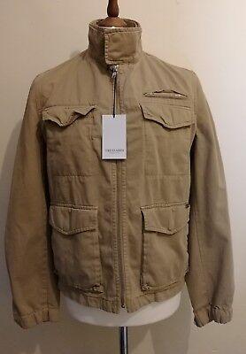 TRUSSARDI COLLECTION AB23 Harrington Jacket Beige Size uk 38 eu 48, occasion d'occasion  Expédié en Belgium