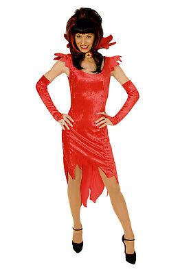 lin Damen Gr.36-46 rotes Teufelskostüm Halloween Karneval (Rote Teufel Kostüme)
