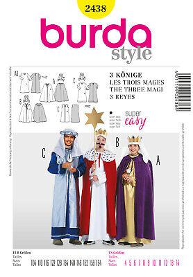 Burda Style Schnittmuster - Kostüm - 3 Könige - Kronen - Umhang - Nr. 2438 ()