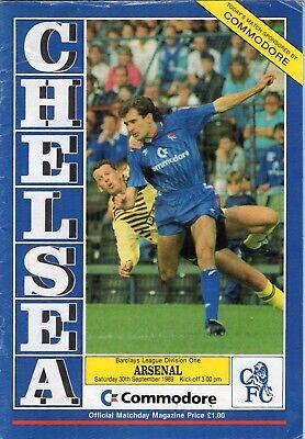 Chelsea V Arsenal Programme 1989-90