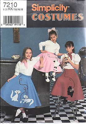 implicity Nähen Muster Mädchen Rund Pudel Rock Kostüm (Pudel-rock-kostüm Kind)