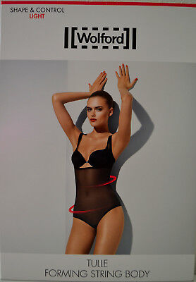 WOLFORD TULLE FORMING STRINGBODY LIGHT SUGAR CORAL 36 SHAPING TRANSPARENT