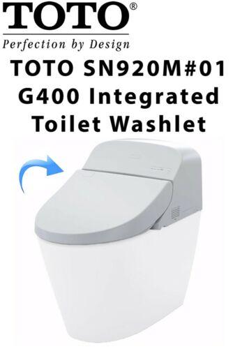 NEW TOTO G400 Washlet Top Unit - Auto Open/Close/Flush  SN920M#01 - Cotton White