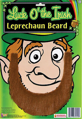 Luck O' The Irish Leprechaun Costume Beard St. Patricks Day Brown Self Adhesive - Leprechaun Beards