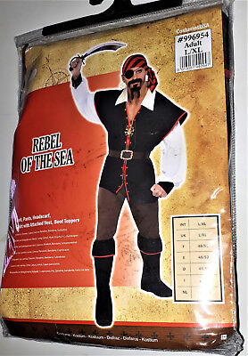 Herren Piraten Kostüm Rebel of the Sea Karneval Fasching Halloween M/L
