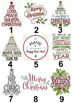 Merry Christmas Large Sticky White Paper Stickers Labels NEW ()