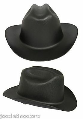 "Outlaw Cowboy Style Safety Hard Hat ""BLACK"" Ratchet Susp ANSI/OSHA Approved! , used for sale  Shipping to Canada"