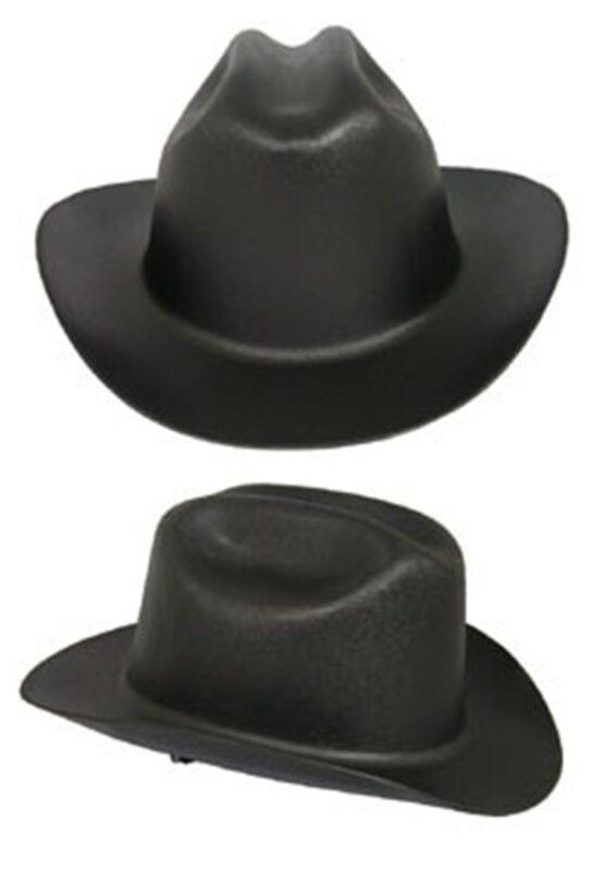 "Outlaw Cowboy Style Safety Hard Hat ""BLACK"" Ratchet Susp ANSI/OSHA Approved!"