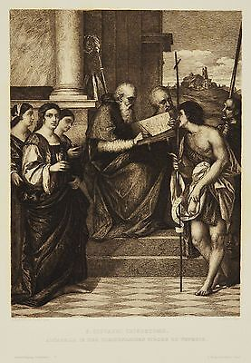 Radierung 19.Jh. S. Giovanni Crisostomo Venedig Johannes Chrysostomos 38 x 28 cm