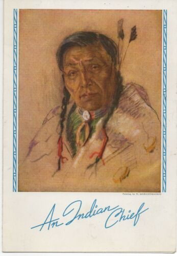 1943 Canadian Pacific Railroad Menu with Native American Chief Cover