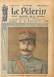 Portrait Général Joseph Marie Gaston Gassouin Chemin de Fer 1919 ILLUSTRATION