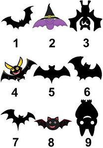 Bat Halloween Large Sticky White Paper Stickers Labels NEW
