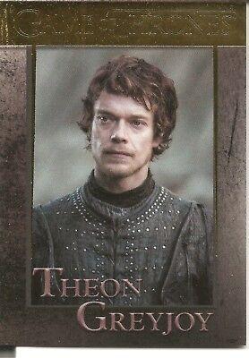 Game of Thrones Season 7 Theon Greyjoy Gold Parallel Trading Card #34 (#4/150)
