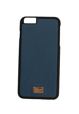 NEW DOLCE & GABBANA Phone Case Skin Blue Gold Logo Leather iPhone6 Plus