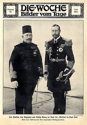 Der Khedive von Ägypten und König Georg an Bord der