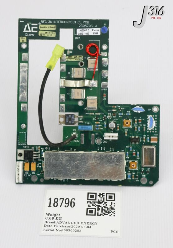 18796 Advanced Energy Pcb, Rfg 3k Interconnect Ce 2305703-a
