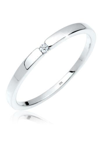 DIAMORE Ring Verlobungsring Klassiker Diamant (0.02 ct.) Silber