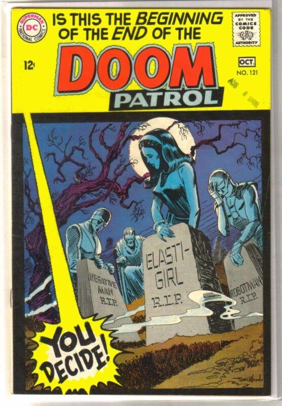 DOOM PATROL #121 Robotman/Negative Man/Elasti-Girl RIP! DC Comic Book ~ FN/VF
