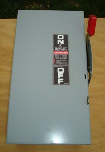 GE 600V 60A NEMA 1 NON FUSED DISCONNECT NEW NIB SWITCH 3 POLE 3 PHASE 60 AMP