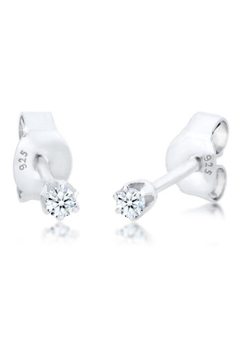 DIAMORE Ohrringe Basic Ohrstecker Diamant (0.06 ct.) 925 Silber