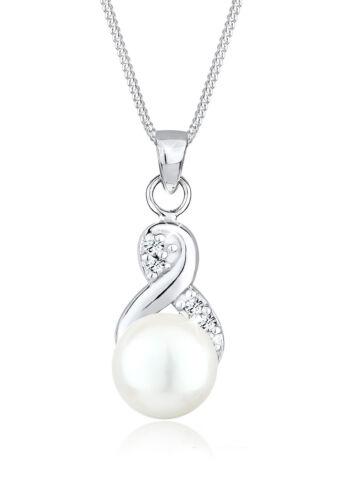 Elli Halskette Infinity Perle Swarovski® Kristalle 925 Silber
