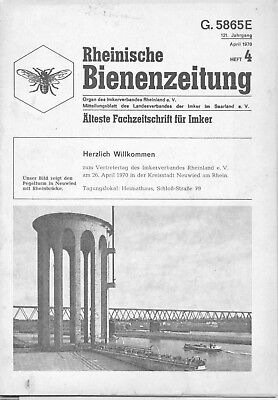 Rheinische Bienenzeitung Heft 4 1970 Bienen Bienenzucht Honig Ratgeber Tipps
