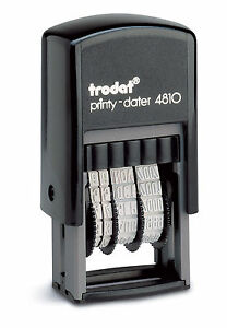 Date Stamp - Self Inking Rubber Stamp - Mini Dater 4810 - Trodat - 70169